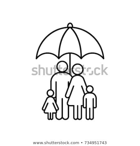 Opieka medyczna parasol ikona wektora ilustracja Zdjęcia stock © pikepicture