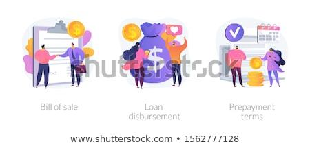 Megállapodás aláírás vektor metafora nő egyezség Stock fotó © RAStudio