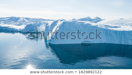 Buzdağı görüntü küresel isınma iklim değişikliği dev Stok fotoğraf © Maridav