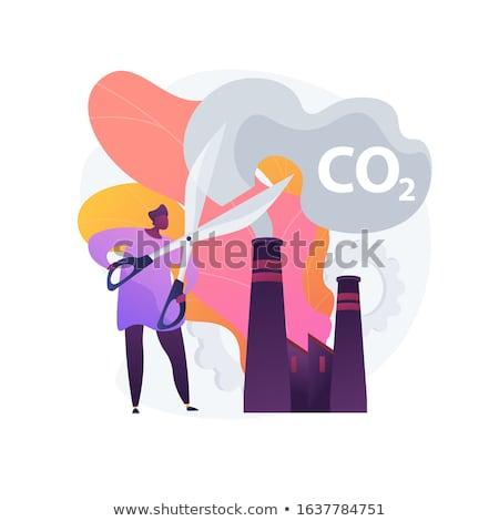 Csökkentés benzin absztrakt program nulla széndioxid lábnyom Stock fotó © RAStudio