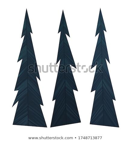 Conjunto escuro azul enfeitar árvore de natal Foto stock © robuart