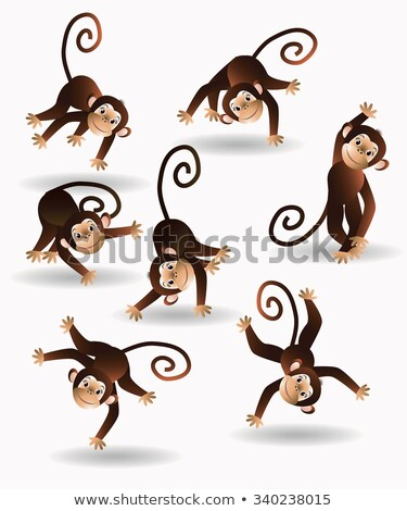 набор обезьяны природы иллюстрация дерево Сток-фото © bluering