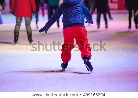 Close up of child ice skating stock photo © duoduo