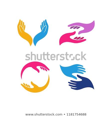 Foto stock: Mão · imagem · mãos · coração