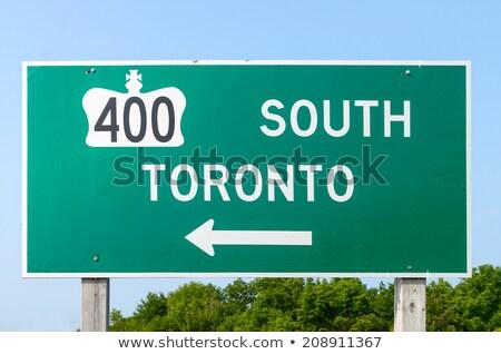 Kanada · otoyol · işareti · yüksek · karar · grafik · yeşil - stok fotoğraf © kbuntu