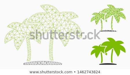 Palmiers mosaïque sept Photos fleur bois Photo stock © Musat