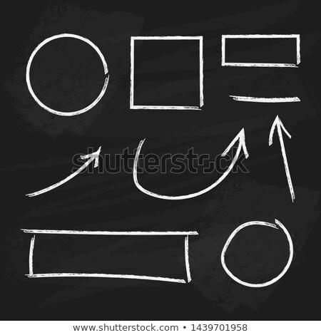 vector blackboard square icon stock photo © tele52