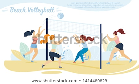 Time to play volleyball Stock photo © sahua