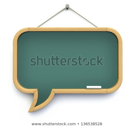 Stockfoto: 3d Green Blog Speech Bubble