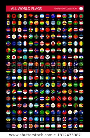 World on black background China, Asia and Russia Stock photo © fenton