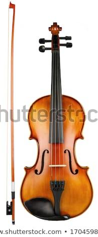 Stock fotó: Hegedű · izolált · fehér · antik · fa · koncert