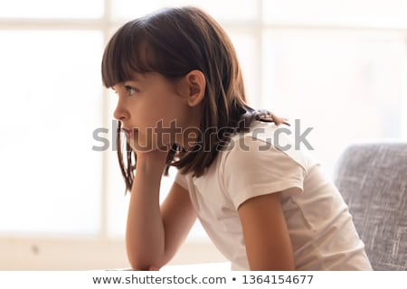Baby Girl in Thoughtful Pose stock photo © rognar