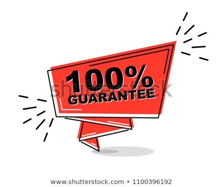 100 pour cent libre 3D rouge cases Photo stock © marinini