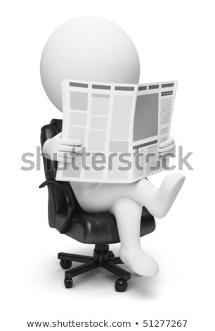 3d small people - newspaper stock photo © AnatolyM