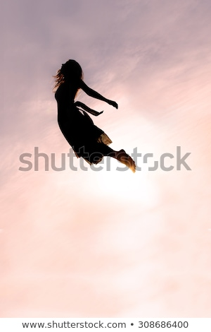 Woman Falling Through the Sky stock photo © piedmontphoto