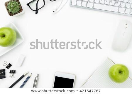yeşil · elma · öğrenme - stok fotoğraf © devon