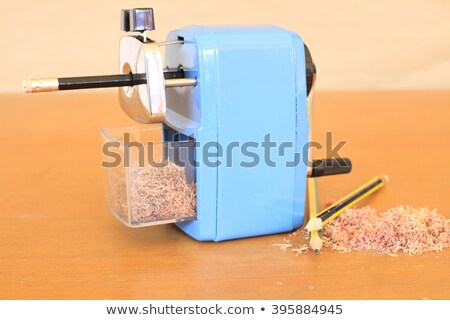 Old Manual Sharpener with Pencil in it, Isolated White Backgroun Stock photo © Qingwa
