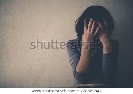 Rozpacz kobieta młodych line narkotyków dziewczyna Zdjęcia stock © imarin