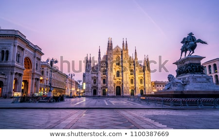 "Milan skyline from  Milan Cathedral (""Duomo di Milano""). Italy. Stock photo © fazon1"