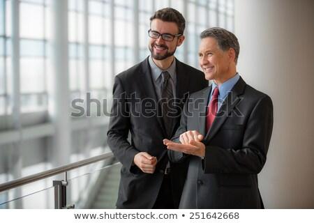 portret · twee · zakenlieden · kantoor · venster · business - stockfoto © HASLOO