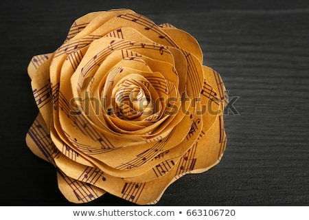 old music note sheet with flowers Stock photo © ozaiachin