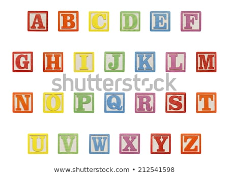 run in toy block letters Stock photo © morrbyte
