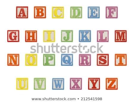 correr · brinquedo · cartas · branco - foto stock © morrbyte