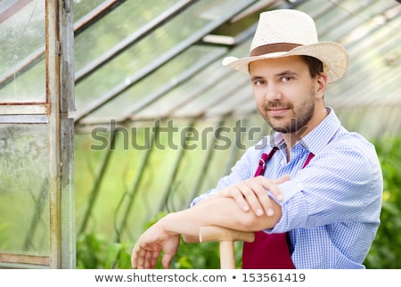 a male vegetable farmer and a female florist Stock photo © photography33