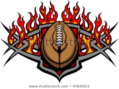 Stock photo: American Football Template with Flames Vector Image
