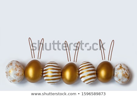 Beautiful colorful Easter card with eggs Stock photo © Elmiko