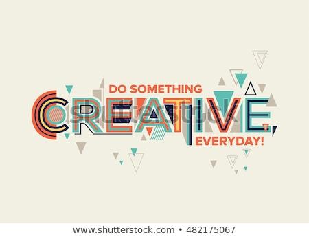 Criador elemento projeto beleza movimento pinturas Foto stock © Designus