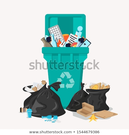 Overflowing Recycle Bins Stock photo © frannyanne