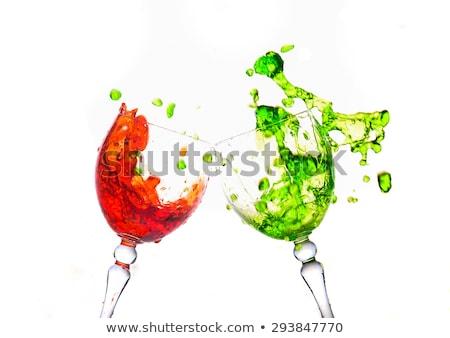Сток-фото: космополитический · всплеск · Martini · белый · сердце · стекла