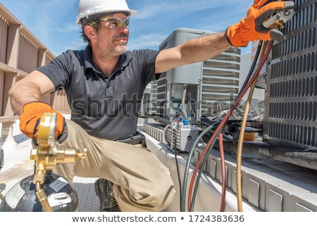 HVAC Tech Working Stock photo © Trigem4
