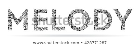 Vector music lettering made from black notes Stock photo © orson