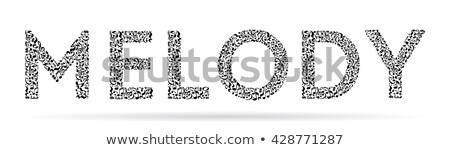Vektor zene fekete jegyzetek különböző kő Stock fotó © orson