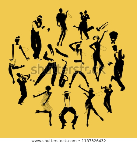 20 vector jumping people silhouettes stock photo © kaludov