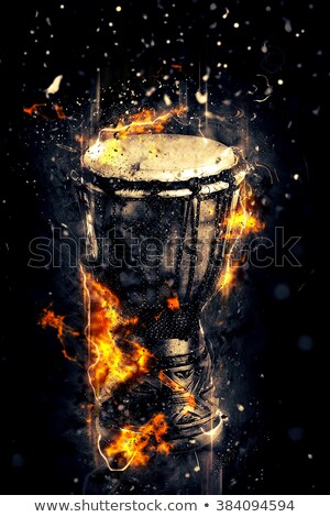 drums in fire stock photo © misha
