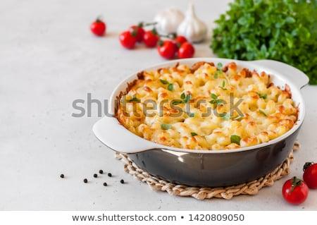 Makaronu żywności ser posiłek odżywianie gotowany Zdjęcia stock © M-studio
