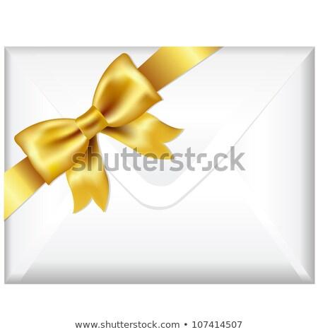 Dotación cara dorado arco aislado blanco Foto stock © adamson