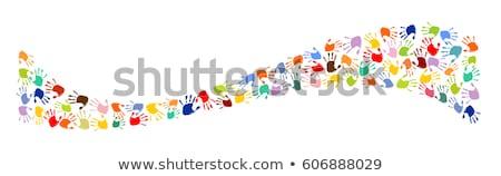 Main imprimer blanche résumé Photo stock © vlad_star
