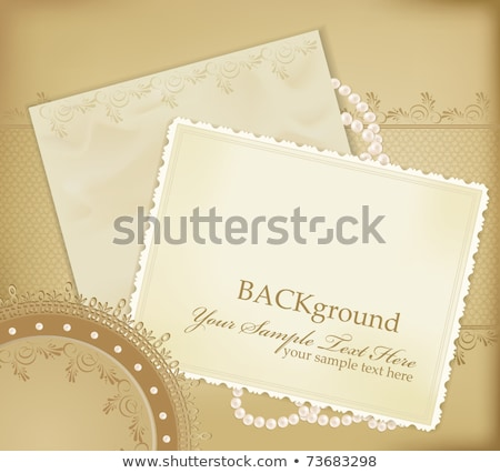 Photo frame with pearls, vector illustration Stock photo © carodi