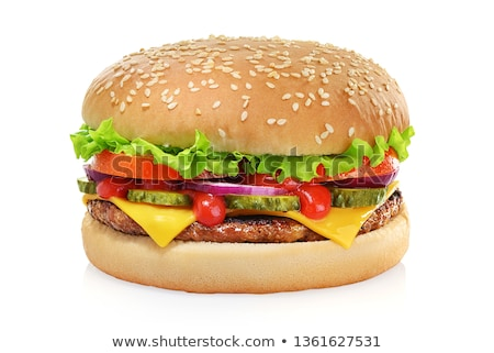 Carne grasa sándwich comer blanco Foto stock © ozaiachin