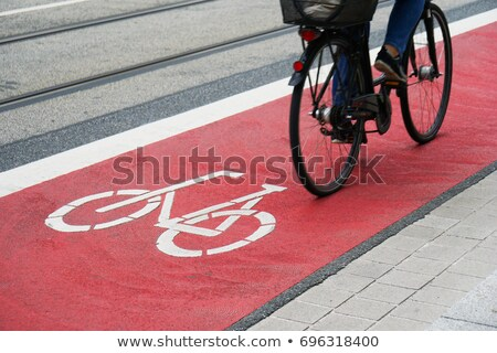 Cyclist on urban cyceway Stock photo © photosil