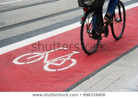ciclista · urbano · pendulares · estrada · cidade - foto stock © photosil