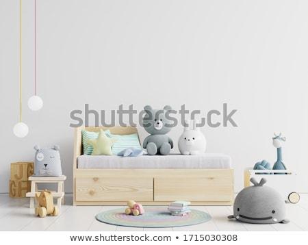 Szoba gyermek belső ágy baba könyv Stock fotó © Ciklamen