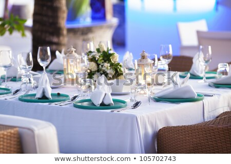 Inside the luxury outdoor restaurant. Shallow depth of field. stock photo © moses