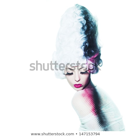 professional hairdresser with fashion model at luxury salon stock photo © candyboxphoto