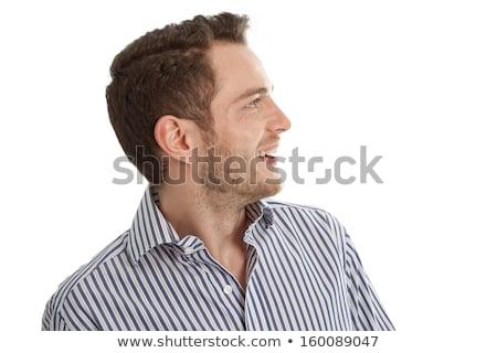 耳が聞こえない プロファイル クローズアップ 男 頭 髪 ストックフォト © csontstock