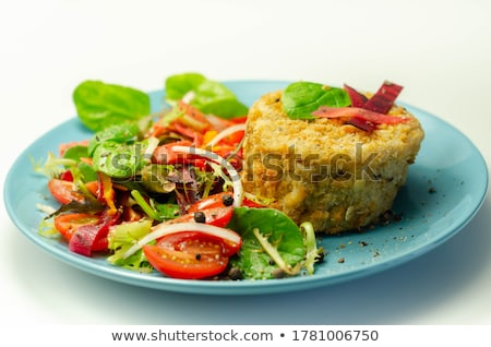 mixed salad with bread and cheese stock photo © M-studio